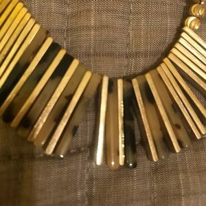 Gold tone and tortoise necklace!